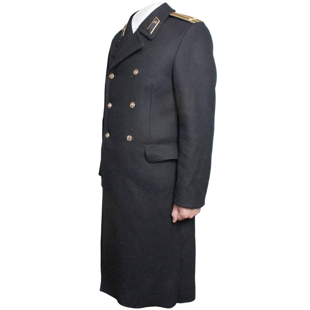 Russische Marine Flotte wollenen langen schwarzen Mantel