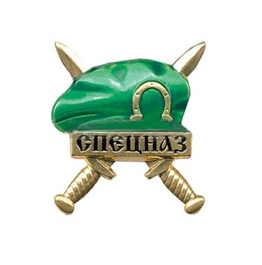 Frontier Guards Spetsnaz Russian Army badge green beret