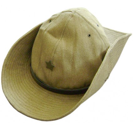 Russian khaki hat Panama with star badge