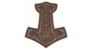 Mjolnir Thor's Hammer Embroidered Patch