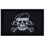 Flag Skull In A Beret Military Game Airsoft Sew-on Patch #1