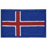 Drapeau de l'Islande Patch brodé