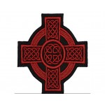 Celtic Ornament Cross Machine Embroidered Patch