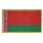 Weißrussische Flagge gestickter Patch