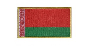 Belarusian Flag Embroidered Patch