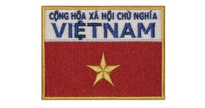 Vietnam Space Program Uniform USSR Embroidered Sleeve Patch