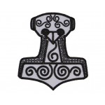 Mjolnir Thor's Hammer Embroidered Sew-on Patch