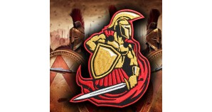 Spartan Warrior Sew-on Embroidery Patch 2