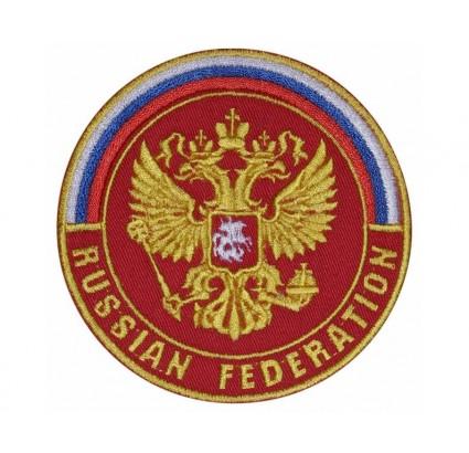 Parche bordado de la cresta de la Federación de Rusia Escudo de armas de Rusia # 4