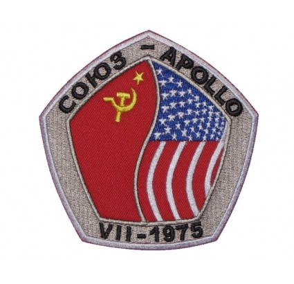 Soyuz-Apollo Soviet Space Program Patch USSR-USA 1975 #4