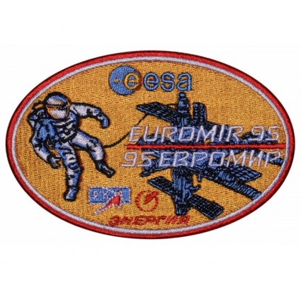 Soviet Space Programme Embroidered Patch Soyuz TM-22 #2