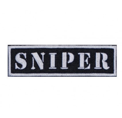Sniper Strip military Embroidered Patch black or khaki color
