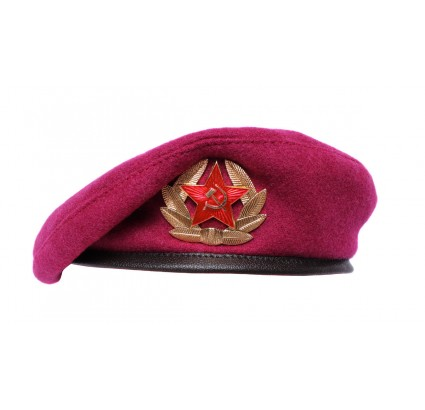 Pink beret Russian OMON military Airborne VDV raspberry hat