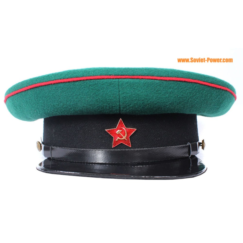 36de44fb5 USSR russian NKVD Border Troops Officers Green visor hat
