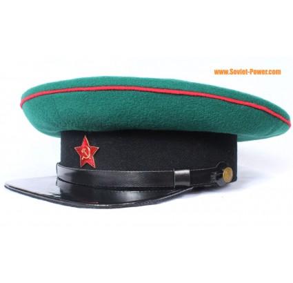 USSR ruso NKVD Fronteras Tropas Oficiales Sombrero de visera verde