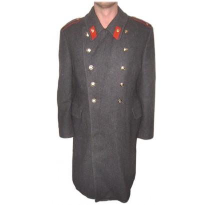 ソ連冬の毛皮の警官灰色のロシアのオーバーコート