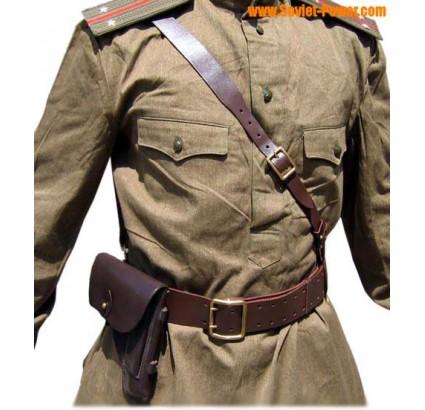 Russo Ufficiali PORTUPEYA Cintura in pelle e custodia per armi