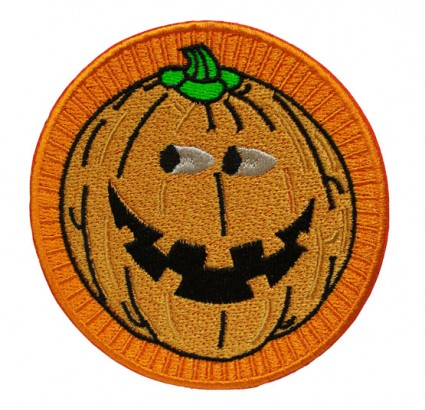 Halloween patch with Pumpkin holiday present Trick or Treat