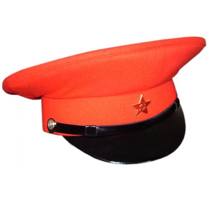 Bloody General red visor hat with USSR star