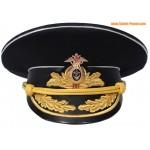 Russische Marineflotte Admiral Hut schwarz Schirmmütze