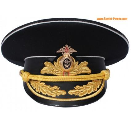 Russo cappello ammiraglio flotta navale protezione della visiera nero