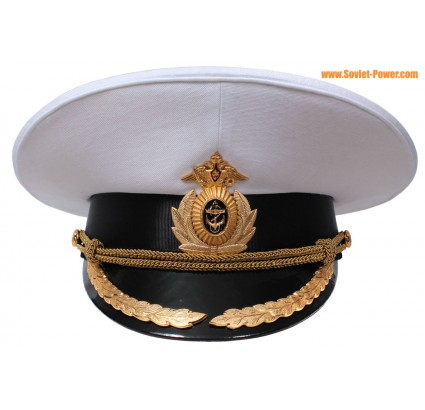 Russian Navy fleet Captain parade visor cap