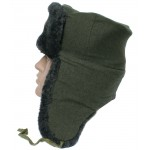 Russian Federation Border Guards sheep fur Ushanka hat