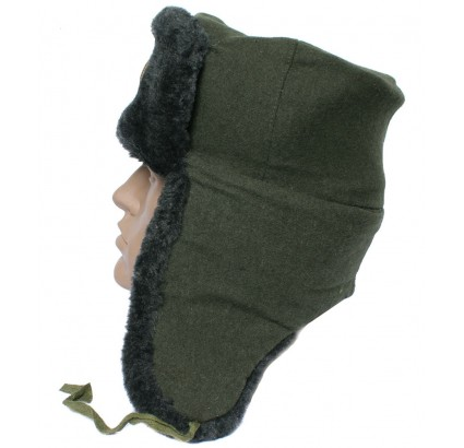 Russian Federation Border Guards sheep fur Ushanka hat