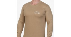 Russian Army soldiers sand t-shirt with long sleeves