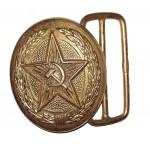 星ソ連鎌とハンマーでロシアパレードゴールドバックル