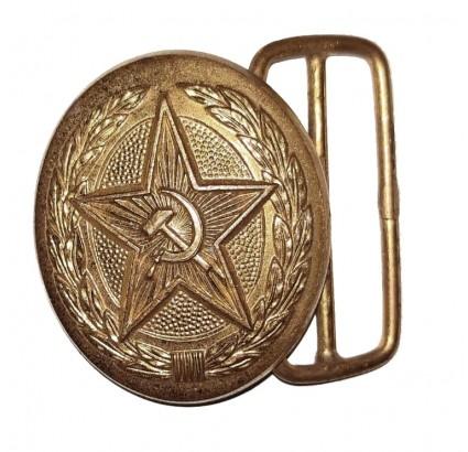 Boucle en or de parade russe avec faucille et marteau étoile URSS