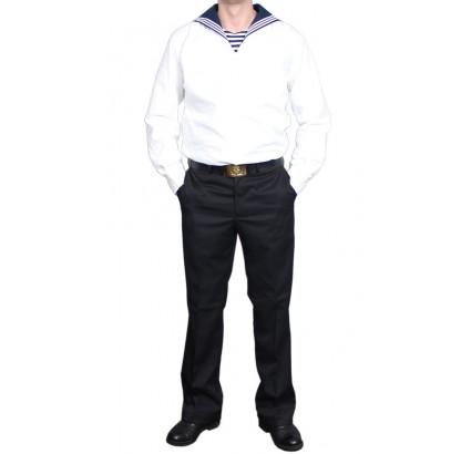 Russische Matrosen Parade Marine weiße Uniform
