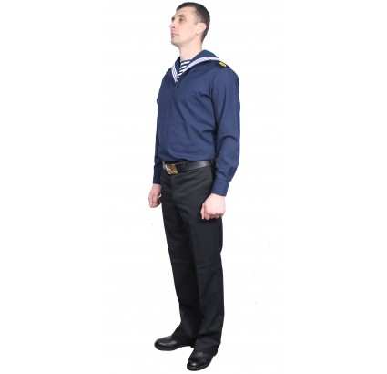 Soviet sailors Navy everyday blue uniform shirt with trousers