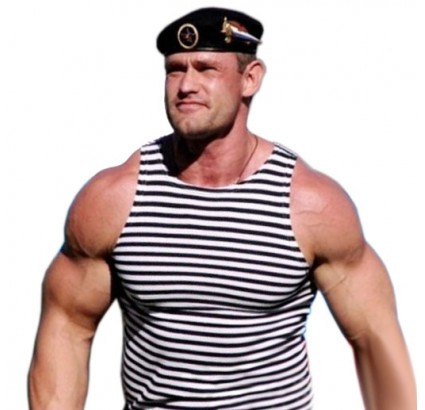 Russian Marines sleeveless t-shirt black stripes