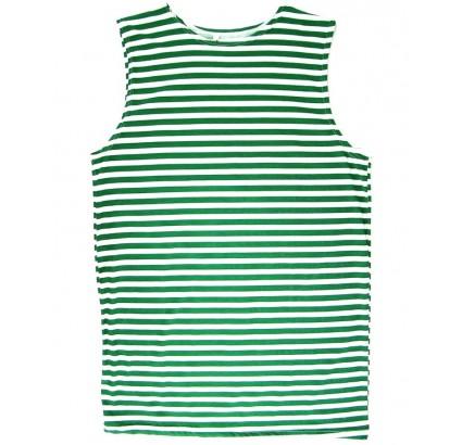 ソ連の国境警備員ストライプTシャツ緑のストライプ