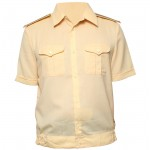 Russian military creamy shirt for Navy Officers summer use