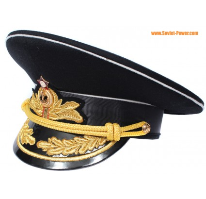 Soviétique / russe Marine Flotte amiraux noir URSS visière chapeau