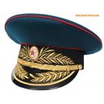Militar soviético / artillería rusa general sombrero visera
