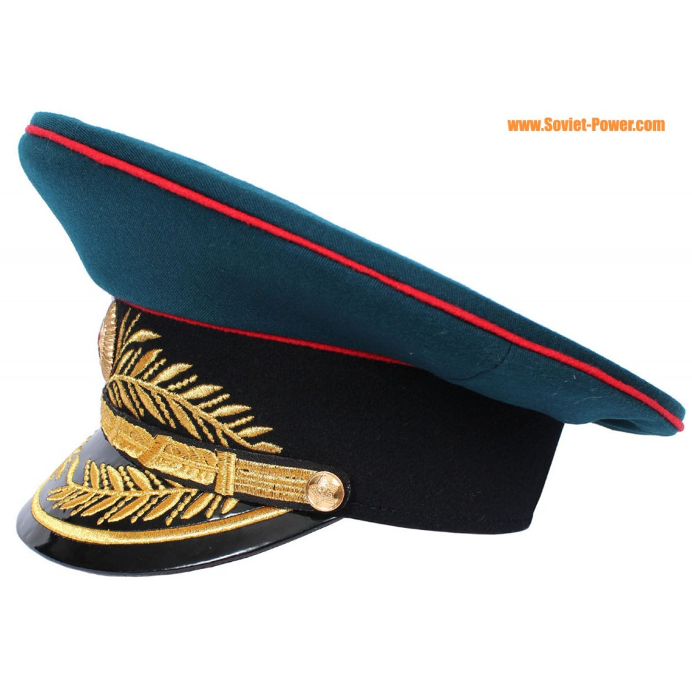 4256cd370 Soviet military / Russian Artillery General visor hat