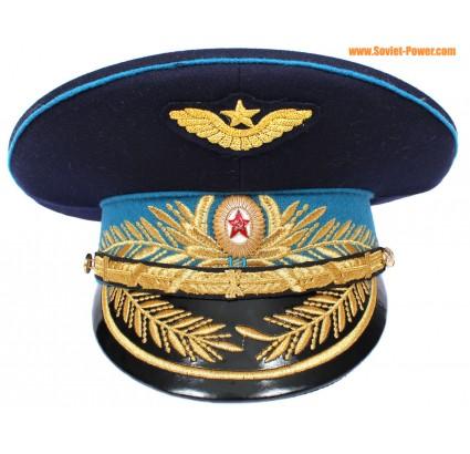 Russe / soviétique Air Force General bouchon visière bleue