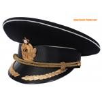 Sowjetischen Marinekapitän schwarz Visier Hut