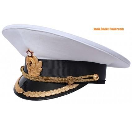 Capitán naval soviético Sombrero visera del desfile ruso