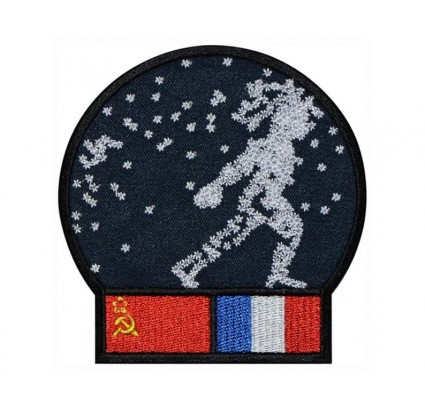 Soyuz T-6 Interkosmos Soviet embroidery Space Patch