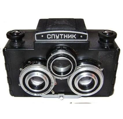 """Soviet SPUTNIK special camera with STEREO KIT """"LOMO"""""""