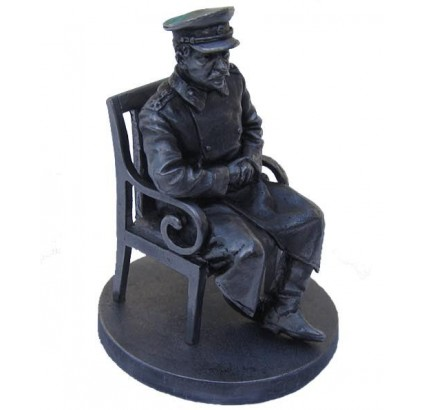 PERFECT Miniature Metal SCULPTURE of STALIN