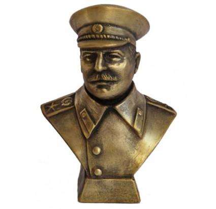 Russische Bronzebüste Joseph Stalin, sowjetischer Kommunist