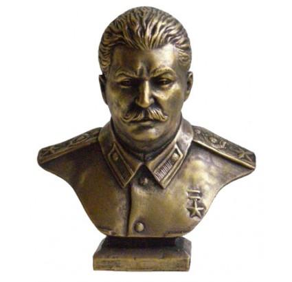 Russische sowjetische Bronzebüste von Stalin