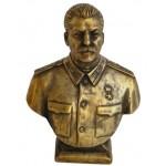 Busto comunista russo sovietico di bronzo, Stalin