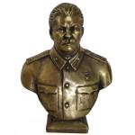Hohe russische sowjetische Bronzebüste von Joseph Stalin