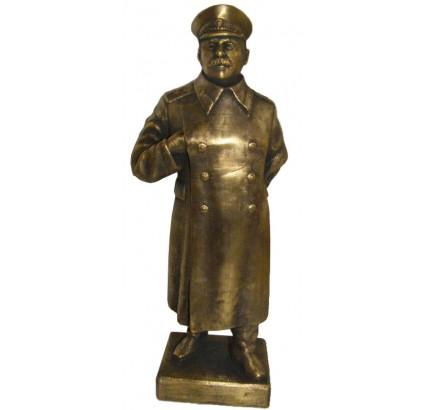 Grande figurine en bronze Buste soviétique de Joseph Staline